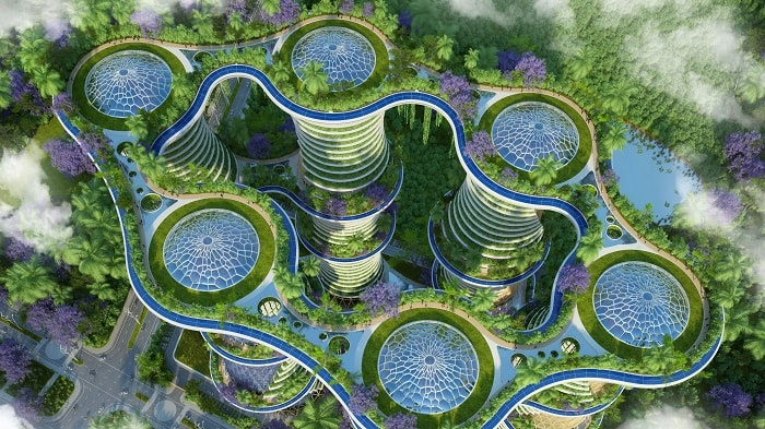 Hyperions, futuristic design by Vincent Callebaut